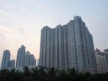 De Stad Scape van Djakarta stock afbeeldingen