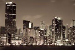 De stad van Miami bij nacht Royalty-vrije Stock Afbeelding
