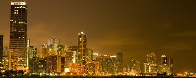 De Stad Scape van Miami Royalty-vrije Stock Fotografie