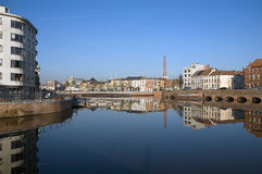 De stad toneelBelgië van Gent Stock Afbeelding