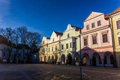 De stad in in Trebon, Tsjechische Republiek royalty-vrije stock foto's