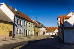 De stad in in Trebon, Tsjechische Republiek stock foto