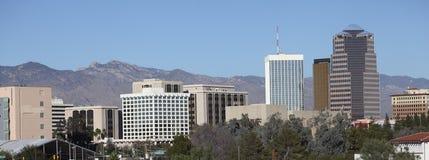 De stad in uit plakkend in de hemel, Tucson, AZ stock foto