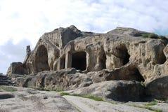 De stad Upliscikhe van de steen Royalty-vrije Stock Afbeeldingen