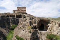 De stad Uplistsikhe van de steen Stock Afbeeldingen