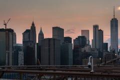 DE STAD DE V.S. VAN NYC NEW YORK royalty-vrije stock afbeelding