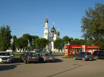De stad van Abakan Rusland Royalty-vrije Stock Afbeeldingen