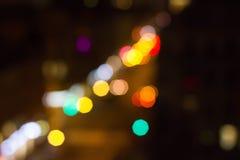 De stad van de achtergrondtextuur bokeh nacht royalty-vrije stock foto's