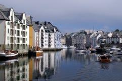 De stad van Alesund Royalty-vrije Stock Foto