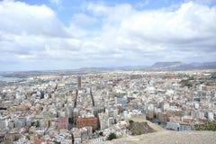 De stad van Alicante Stock Foto's