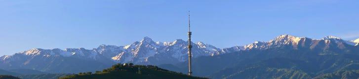 De stad van Alma Ata stock afbeelding