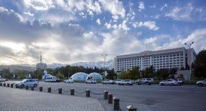 De stad van Alma Ata Royalty-vrije Stock Foto's