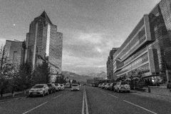 De stad van Alma Ata Bedrijfsdistrict Royalty-vrije Stock Fotografie