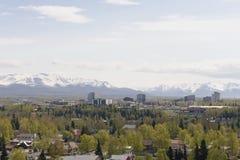 De stad van Anchorage Stock Fotografie