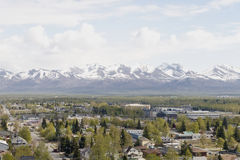 De stad van Anchorage Stock Afbeeldingen