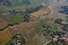 De stad van Angeles van de lucht, Luzon, Filippijnen Stock Afbeeldingen
