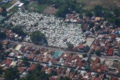 De stad van Angeles van de lucht, Luzon, Filippijnen Royalty-vrije Stock Foto