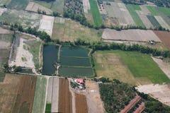 De stad van Angeles van de lucht, Luzon, Filippijnen Stock Afbeelding