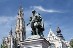De stad van Antwerpen royalty-vrije stock afbeeldingen