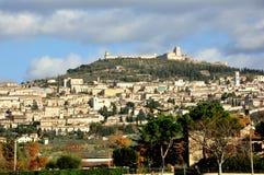 De stad van Assisi, Italië Stock Afbeeldingen