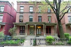 De Stad van Astor Row - van New York Stock Afbeelding