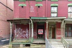 De Stad van Astor Row - van New York Stock Fotografie