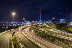 De Stad van Auckland, Nieuw Zeeland stock foto