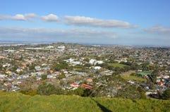 De Stad van Auckland - Volcano Crater Mount Eden Domain Stock Foto