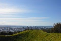 De Stad van Auckland - Volcano Crater Mount Eden Domain Stock Afbeelding