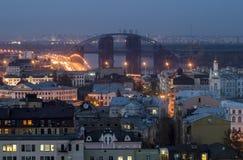 De Stad van avondkiev Royalty-vrije Stock Afbeelding