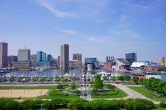 De stad van Baltimore stock afbeeldingen