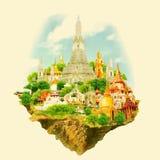 De stad van Bangkok Royalty-vrije Illustratie