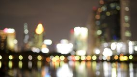 De stad van Bangkok bij nacht stock footage