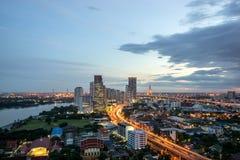 De Stad van Bangkok, Cityscape Thailand stock foto