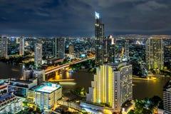 De Stad van Bangkok - Cityscape Thailand stock foto's