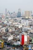 De Stad van Bangkok scape van hierboven stock foto's