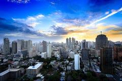 De Stad van Bangkok in Thailand Stock Afbeelding