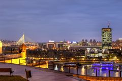 De stad van Belgrado, Servië Stock Fotografie