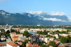 De stad van Bellinzona, Zwitserland stock afbeeldingen