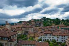 De stad van Bergamo stock foto's