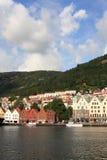 De stad van Bergen in Noorwegen Royalty-vrije Stock Foto