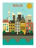 De stad van Berlijn. Royalty-vrije Stock Fotografie