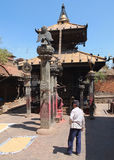 De stad van Bhaktapur, Nepal Stock Afbeelding