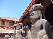 De stad van Bhaktapur, Nepal Stock Foto