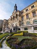 De stad van Bilbao townhall Royalty-vrije Stock Afbeelding