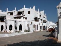De Stad van Binibeca van Menorca Stock Foto