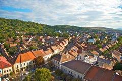 De stad van Bistrita Royalty-vrije Stock Foto's