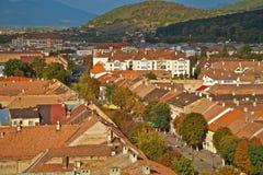 De stad van Bistrita Stock Fotografie