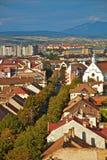 De stad van Bistrita Royalty-vrije Stock Afbeelding