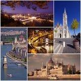 De stad van Boedapest Stock Afbeeldingen